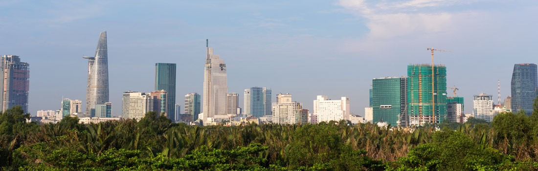 Saigon downtown viewed from Thu Thiem